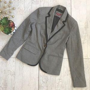 Merona Gray & black school girl blazer size 2